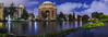 earth hour / lights out 2018 at the palace of fine arts (pbo31) Tags: bayarea california color nikon d810 march spring boury pbo31 sanfrancisco city urban night dark blue panorama large stitched panoramic marinadistrict palaceoffinearts reflection architecture lightsout earthhour sky