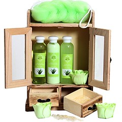 10 piece Wooden Cabinet Beauty Set (mywowstuff) Tags: gifts gadgets cool family friends funny shopping men women kids home