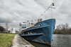 Boat... (hobbit68) Tags: boat ship boot schiff himmel sky cloud clouds blue blau river fluss frankfurt offenbach