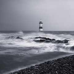 White Rabbit (markrd5) Tags: wales anglesey penmon lighthouse nikond7500 nikon1024m leefilters lee longexposure mono monochrome blackandwhite waterrocksands beastfromtheeast ndgradfilter blackpoint