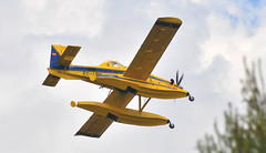 Air Tractor AT-802AF EC-LBH (M McBey) Tags: airtractor firefighting spain bombers aircraft yellow fire amphibian floats