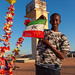 Portrait of a teenage boy with a national flag, Togdheer region, Burao, Somaliland
