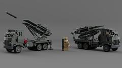 Land Mattress on Lorry, 3.5 ton, 6x4, Lloyd MP (Lego Pilot) Tags: lego ldd wwii truck rockets artillery bedfordql