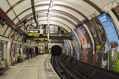 Hampstead Tube Station Southbound Platform (London Less Travelled) Tags: uk unitedkingdom england britain london hampstead camden tube underground station platform rail railway subway metro