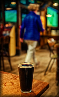 A Glass of Father Grime Stout ( 5.3% by Brew Board) (Temple Brew House - London) (Cross Process) (Fujifilm X100F)