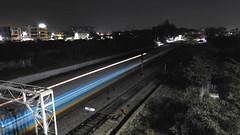 Humsafar Express Long Exposure (shivam.rai.111) Tags: 22706 jammutawi tirupati humsafar express with lallaguda wap4 long exposure railways railroad railroading night