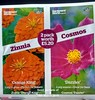 Seed packets of Zinnia 'Orange King' & Cosmos 'Dazzler' 19th March 2018 (D@viD_2.011) Tags: seed packets zinnia orange king cosmos dazzler 19th march 2018