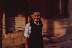 War was all around in Yugoslavia, but she smiled to me (rvjak) Tags: bosnie woman femme smile sourire war guerre f3 nikon street rue bosnia yougoslavie yugoslavia 90s sunset coucher de soleil