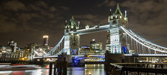Wide view of the Tower Bridge (ijpears) Tags: tower bridge london thames river united kingdon braitain britain kingdom uk night exposure lights water city cityscape