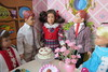 5. Birthday, girl! (Foxy Belle) Tags: doll skipper party vintage 16 scale barbie diorama birthday dining room table food sweets cookies cake cardboard structure background scooter friend ricky