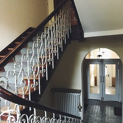 airbnb (mennyj) Tags: vacation 2018 march international travel wanderlust europe mobile iphone iphone7 munich germany airbnb stairs staircase maxvorstadt winter railing