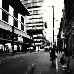 ] - [ (elenidom) Tags: uk england mcr manchester ontheroad street 2018 march bw blackandwhite gb greatbritain
