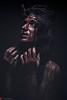 IMG_3186 (m.acqualeni) Tags: manuel manu acqualeni photographe photography religion croyant jesus christ blaspheme anti antéchrist démon demon fille femme girl women font noir black macabre sombre dark gothic gothique couronne files barbelet croix crucifix possédé nu nude nudité sm fétiche fetish fétichiste sado maso bdsm portrait soumise soumission fond darklight light masque mask à gaz blood sang la passion