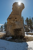 Pillar Sunburst (kevin-palmer) Tags: custernationalforest montana ashland sandstone rockformation pillar march spring sunny blue sky sun snow nikond750 tamron2470mmf28 sunstar shadow