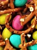PRETZELS AND M&M PEANUT BUTTER EGGS (Visual Images1 (Thanks for over 5 million views)) Tags: macro colors mm peanutbutter chocolate pretzels