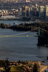 Sunset Vancouver (Photo Alan) Tags: sunset light bridge britishcolumbia vancouver water sea city cityscape cityofvancouver landscape canada