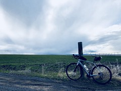 Afternoon Ride With a Storm Chaser (Doug Goodenough) Tags: bicycle bike cycle pedals spokes trek checkpoint sl5 gravel grinding storm clouds fields lewiston idaho 2018 18 march drg531 drg53118 drg53118p