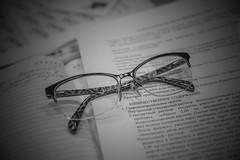 2018.03.20_079/365 - a little break in the work (Taema) Tags: bw bwphd2018 blackandwhite glasses intheoffice