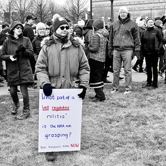 What Part? (Scott M. Mohn) Tags: group man rally blackandwhite assembly signs firstammendment freespeech guncontrol nra peaceful nonviolent condern protest people marchforourlives dissent minnesota marching gathering event enmass crowd democracy freedom newsworthy anger statecapitol stpaul sonyilca77m2