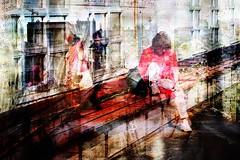 mensen (roberke) Tags: photomontage photoshop layers lagen textures textuur creation creative creatief surreal fantasy verbeelding kleurrijk mensen