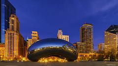 The Bean, Chicago (Neha & Chittaranjan Desai) Tags: chicago blue hour twilight cityscape skyline city the bean illinois usa