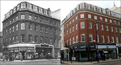 Baker Street`1957-2018 (roll the dice) Tags: westminster westend uk art classic england urban canon tourism tourists fashion old london oldandnew pastandpresent hereandnow streetfurniture architecture corner mad sad traffic changes collection vanished demolished shops shopping sale tsb fifties bank people bygone retro local history nostalgia comparison internationalstore bookshop windows lights cars crossing