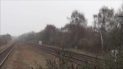 66714 approaches Swinton with the 4Z81 Masborough to Felixstowe North intermodal, 9th April 2018. (Dave Wragg) Tags: 66714 class66 gbrf 4z81 swinton loco locomotive railway