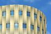 Round golden building (Jan van der Wolf) Tags: map170188v gold building gebouw parking parkinggarage architecture architectuur round facade utrecht decope papendorp