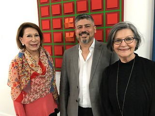 Coral Gables' legend Dora Valdes-Fauli with Art Circuits team, Miguel Manrique designer and Liana Perez, Publisher