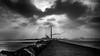 Ray (noel_milner) Tags: dublin ireland lighthouse towers rocks ocean people sea ships port clouds blackandwhite street seascape landscape eire cranes industialport