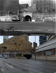 Queensway Tunnel Exit, 1930s and 2018 (Keithjones84) Tags: liverpool oldliverpool thenandnow rephotography