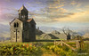 The cross (Jean-Michel Priaux) Tags: paysage landscape nature photoshop church abbey abbaye église hdr surreal unreal bucolique bucolic poetic poetry dream painting paint mattepainting paintingmatte paintmapping