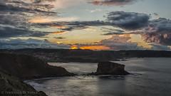 sunset view of Santa Maria del Mar 4.)- 2347 (dironzafrancesco) Tags: tamron felsen slta99v sony natur reise haida tamronsp2470mmf28diusd wasser ndfilter lightroomcc castriḷḷón principadodeasturias spanien es