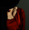 Being Different (coollessons2004) Tags: reddress blackhat woman mystery mysterious red beauty beautiful