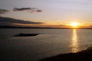 Sunset of Holy Island