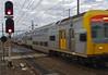 Intercity movement (OzzRod (on the road again)) Tags: pentax q 08widezoom movement blur train railway signals tracks newcastle dailyinmarch2018
