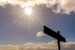 Up In The Clouds (ianpaterson1) Tags: angel north sunburst clouds sky northumberland nikon