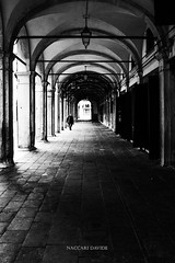 Il lungo portico (davnaccari) Tags: architecture venice blackandwhite street shadows lights people
