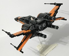 Incom FreiTek T-70 X-Wing Fighter (Black Leader) (Zach Sweigart) Tags: star starfighter starwars starship last jedi poe dameron resistance
