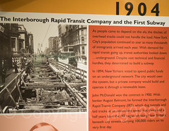"""IRT and the First Subway 1904"" Display Board, New York Transit Museum, Brooklyn, New York City (jag9889) Tags: 2016 20160612 anniversary brooklyn downtownbrooklyn irt indoor kingscounty mta metropolitantransportationauthority museum ny nyc nytm newyork newyorkcity newyorktransitmuseum photograph plakat poster transit transportation usa unitedstates unitedstatesofamerica jag9889"