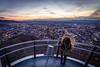 On the platform (benedikt.t) Tags: freiburg sunset city bluehour