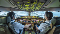 AFTER THE STORM (Abdulaziz A. Marafi) Tags: airlines aviation boeing 777 aircraft airplane aeroplane travel cockpit flight deck instruments pilots pilot copilot captain weather simulator crew navigation aerodrome dramatic speed runway landing approach jfk ny snow touchdown airport flying