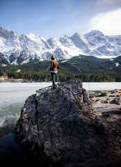 Am Eibsee (Chris Buhr) Tags: eibsee bayern natur landschaft landscape zugspitze deutschland germany bavaria outdoor frühling sonne schnee snow white see lake leica chris buhr