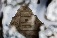 Reflejos... (mariusbucsa) Tags: lluvia charco reflejo torre santamaria mudéjar cascoantiguo calatayud calle aragón es españa nikkor35mm18g nikond5600 nikon