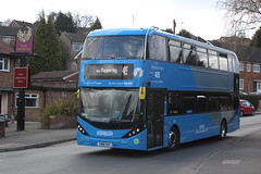 2018 03 26_6910 (djp3000) Tags: bus biogasbus nct nctskyblue45 skyblue45 doubledecker nottinghamcitytransport transit publictransport publictransit