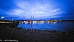 Morro Bay Before Dawn (lorinleecary) Tags: centralcoastcalifornia morrobay night harbor lights predawn stacks