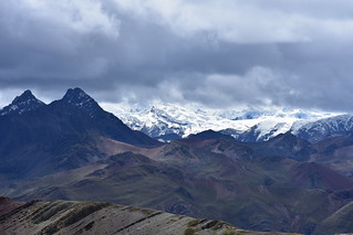 rainbown mountain and the Andean mountains
