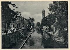 platenatlas 1922  ill  Utrecht Oude Gracht (janwillemsen) Tags: bookillustration 1922 schoolbook utrecht