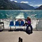 People Taking in the Back of the Ferry Boat thumbnail