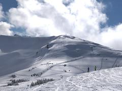 The hike up Flute Ridge (Ruth and Dave) Tags: fluteridge flutebowl symphonyamphitheatre whistler whistlermountain whistlerblackcomb trail hiking bootpack skiing skiers slope tracks offpiste powder skiresort